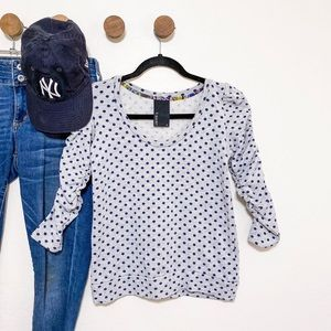 Anthropologie Dolan French Terry Dot Sweatshirt